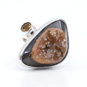 Semi Precious Stone Ring in Sterling Silver Agot
