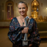 Gaby Dorries (national dance award) wearing Agot necklace