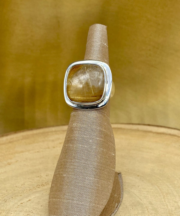 Semi Precious Stone Ring in Sterling Silver 925